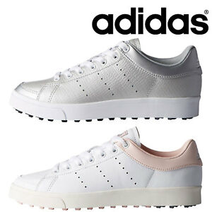 big sale f19fc ddd00 Image is loading ADIDAS-LADIES-ADICROSS-CLASSIC-LEATHER-SPIKELESS-GOLF-SHOES -