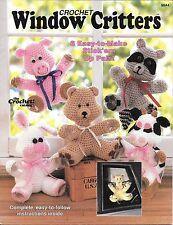 Crochet PATTERNS WINDOW CRITTERS 6 Stick'em Up Pals 1988 Crochet Catalog