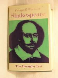 The-Complete-Works-of-William-Shakespeare-The-Alexander-Text-Very-Good-Book