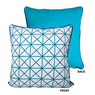 Meridian Reversible Cushion Cover teal green cushion cover