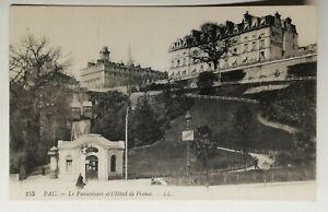 810-Ancienne-Carte-Postale-Pau-le-funiculaire-et-l-039-hotel-de-France