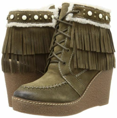 Sam Edelman Women's Kemper Boot Bootie Moss Green Suede NEW SZ 6