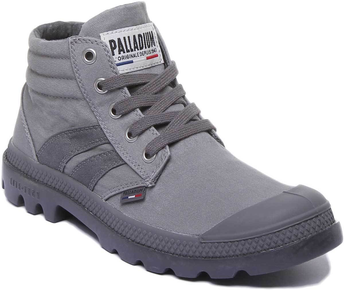 Palladium Retro Lite Supply Women Canvas Stone Lace up Ankle Boots UK Size 3 - 8