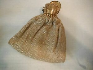 Early-1930-039-s-Antique-SEQUIN-PURSE-w-Accordian-Style-Metal-Opening-Cap-6-5-034-x5-034