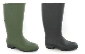 Stiefel Herrenschuhe Bully Treu Unisex Adults Green Rubber Wellington Boot Style
