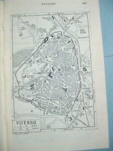 Cartina Geografica Di Viterbo E Provincia.Stampa Antica Mappa Viterbo E Descrizione Dei Dintorni Di Roma Lazio 1939 Ebay