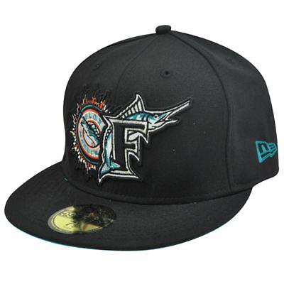 Diplomatisch Mlb Florida Marlins New Era 59fifty 5950 Fitted Hat Cap Schwarz Old Logo 7 3/4 Sport