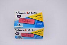 Papermate Pink Pearl Eraser Large Box Of 12