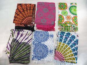 *US SELLER*lot of 5 wholesale wall tapestry mandala sarong hippie clothes