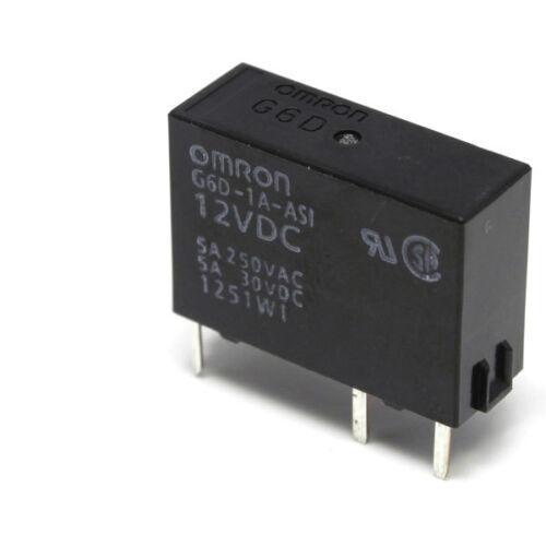 Omron G6D-1A-ASI-12DC SPNO PCB Relay 5A 12VDC