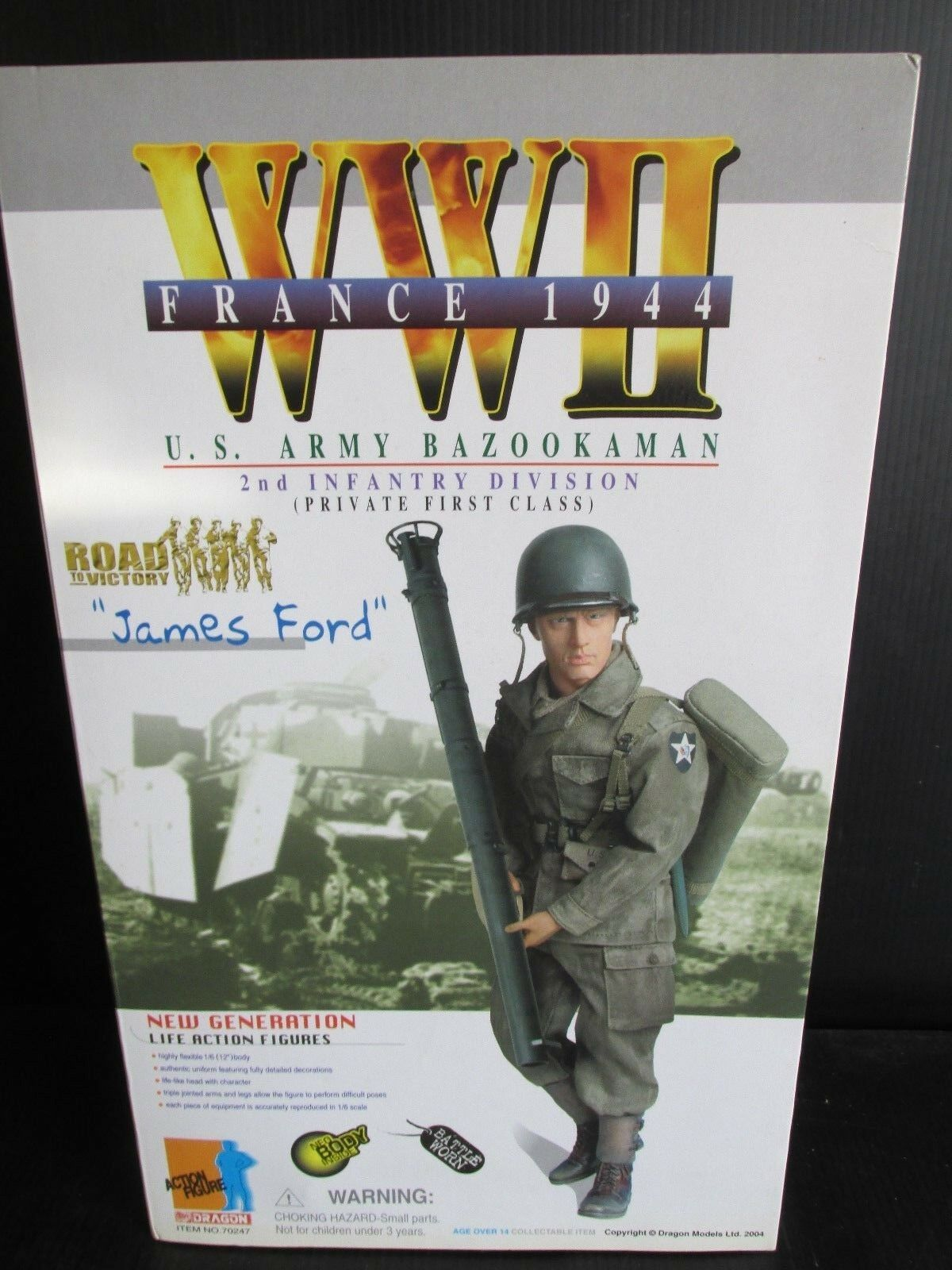 Dragon Side show 1 6TH scale figures WW 11 FRANCE 1944  JAMES FORD