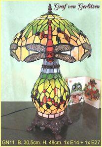 Graf-von-Gerlitzen-Tiffany-Tisch-Lampe-Leuchte-Tiffanylampe-Tischlampe-GN11