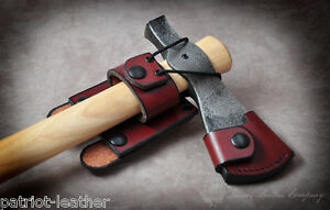 custom leather molle belt loop for cold steel tomahawk gransfors