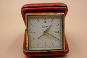 Vintage SWIZA Travel Alarm Clock - Swiss Made - Working