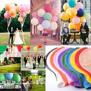 New-Huge-Latex-Helium-Balloons-Ballons-36-034-Party-Wedding-Birthday-Multicolor