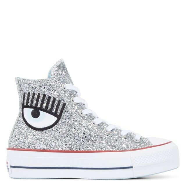 white high platform shoes