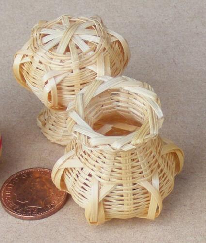 Escala 1:12 cesta de bambú tumdee Casa de Muñecas en Miniatura Jardín Accesorio Tienda Zc