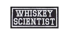 Whiskey Scientist Biker Patches Aufnäher Motorrad MC Rocker Bügelbild Bar Kneipe