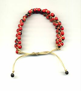 Peru-Andes-Stretch-Bracelet-with-native-wayruros-seeds-accent-on-red