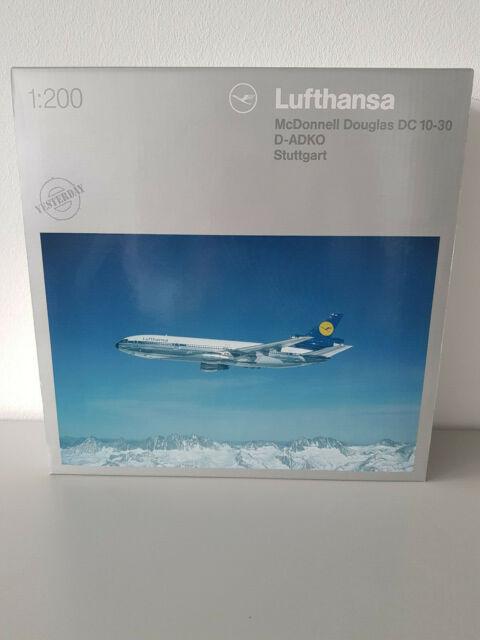 1:200 Herpa Wings 552301 Lufthansa McDonnell Douglas DC-10-30, D-AIQW Stuttgart