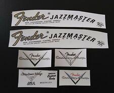 Vintage 65 CBS JZ bass  guitar Headstock Logo Decal set /& 6 custom shop decals