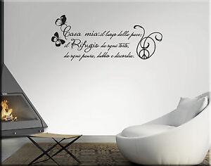 Adesivi murali frase casa mia decorazioni da parete wall for Arredo casa mia