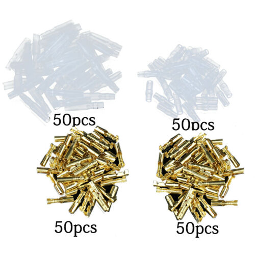 200x Car Bullet Terminal Electrical Wire Connector 4mm Diameter Pin Female Male