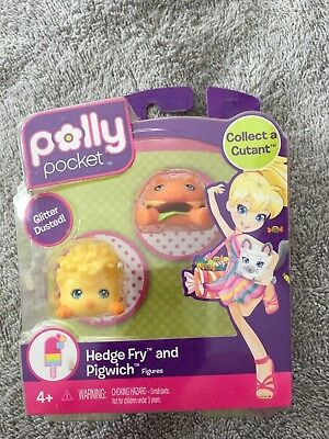 SDCC POLLY POCKET COLLECT A CUTANT HEDGE FRY AND PIGWICH FIGURES TOY HTF MATTEL!