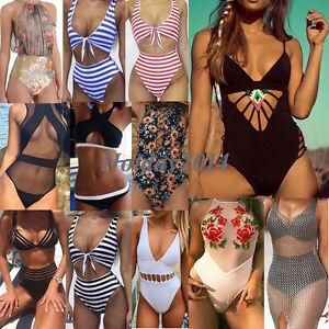 Donna-Costume-Intero-Costume-Da-Bagno-Da-Bagno-Monokini-Push-Up-Imbottito-Bikini