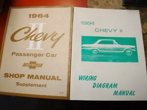 1964 CHEVROLET CHEVY II NOVA FACTORY SERVICE MANUAL ...