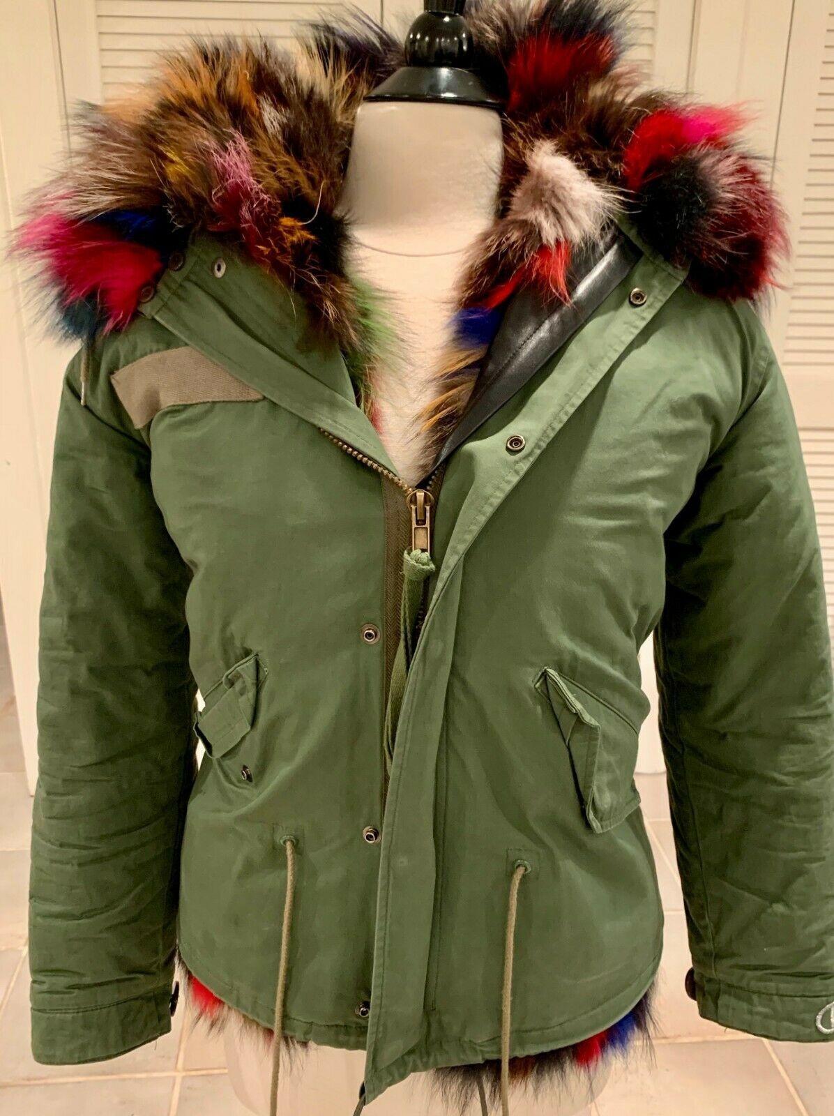 D. Damiani NY Multi-Color Fur Lined Coat Small - image 1