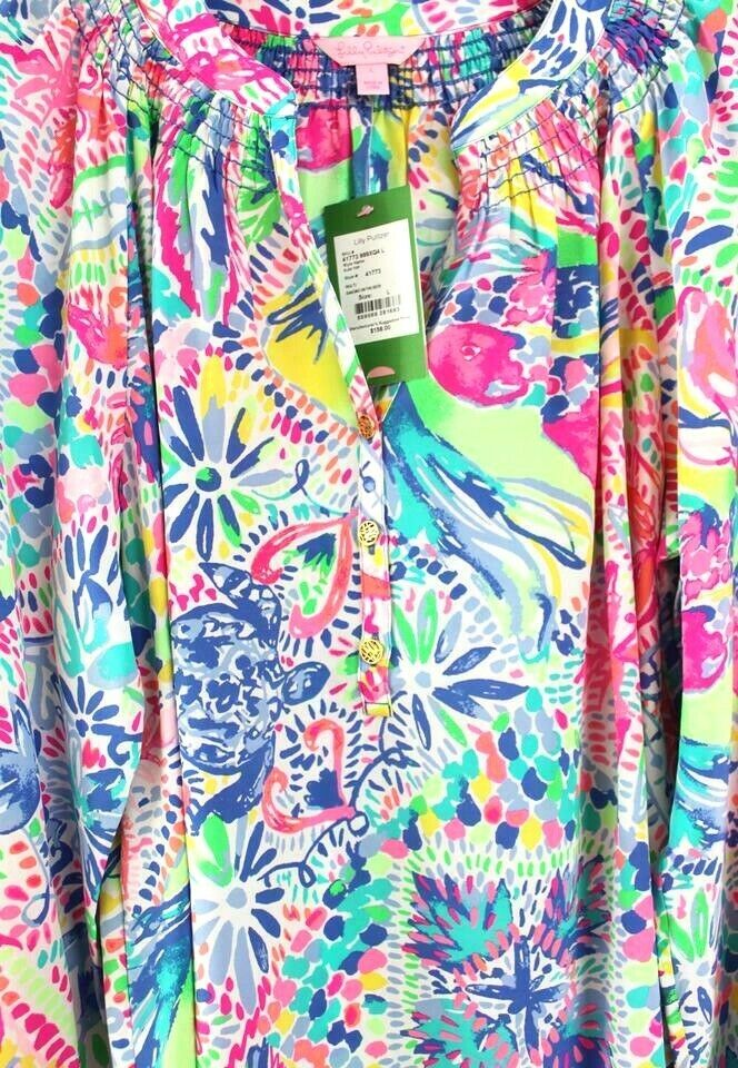 NWT LILLY PULITZER ELSA TOP MULTI DANCING ON THE DECK  XXS,XS,S,L