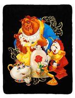 Disney Beauty & The Beast Characters Super Plush 48x 60 Throw Blanket Gift
