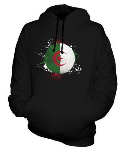 Algérie Football Sweat à Capuche Unisexe Haut Cadeau Coupe Du Monde Sport