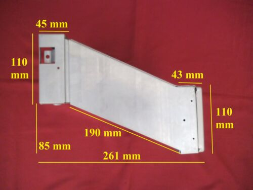 Mauerdurchwurf Briefkasten f Renz Briefkastenanlagen 260 Tür RAL grau MDH25