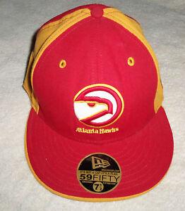 NBA BLACK Atlanta Hawks New Era 59Fifty Cap