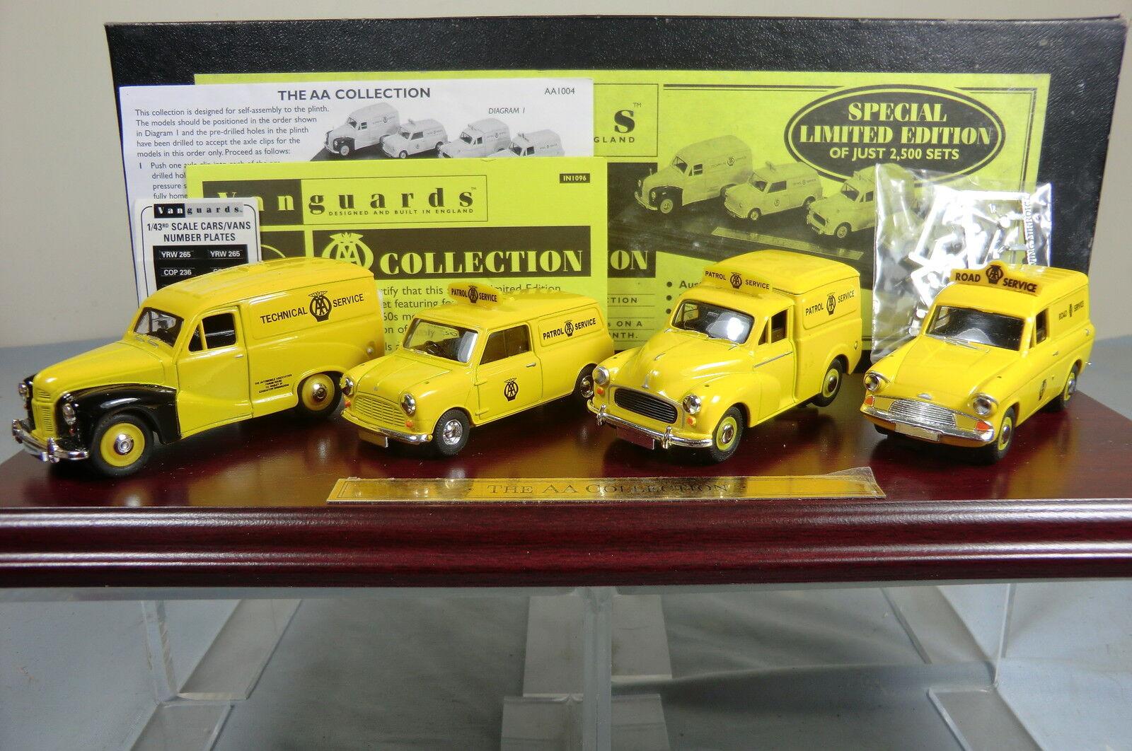 Venta barata Lledo vanguardias vanguardias vanguardias Gift Set No.AA1004. 4 vehículo 'A.A.' Colección Y Pedestal MIB  presentando toda la última moda de la calle