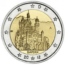 2 EURO Germania 2012 - Castello Neuschwanstein - Zecca casuale
