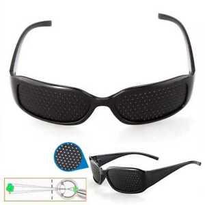 7d9b0ea185 La imagen se está cargando Gafas-Reticulares-Agujeros-Pinhole-Estenopeicas -Rejilla-Negras-Cataratas-