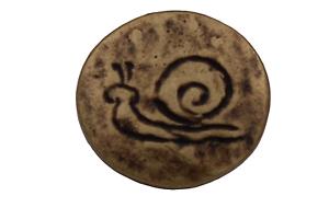 Laiton Bronze Métal Boutons Escargot Motif ösenknöpfe 16 mm 6 pièce