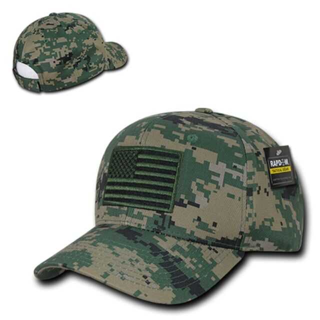 MCU Camo USA US American Flag Patch Military Marines Tactical Operator Cap  Hat 5f9fd183d3b