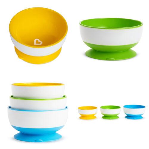 Munchkin Stay Put No Spill Baby Dish Toddler Suction Feeding Bowl BPA Free-3
