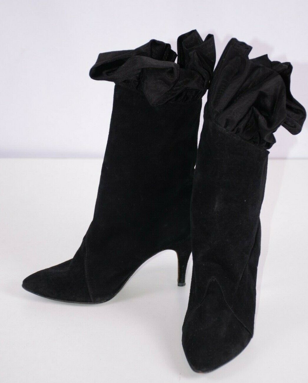 Giorgio Beverly Hills Women's Ankle Booties Sz 7 Black Suede Fringed Boho Party