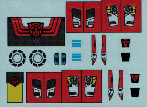 STICKERS TRANSFORMERS GENERATION 1 G1 AUTOBOT CLONES REPRO LABELS