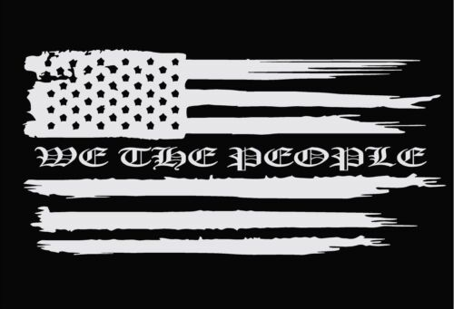American Flag We The People Die Cut Truck Decal Window Decal Car Decals Sticker