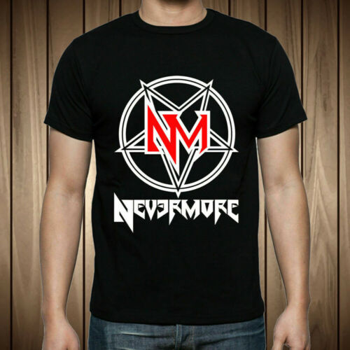 New NEVER MORE Metal Band Logo T-Shirt Size S-2XL
