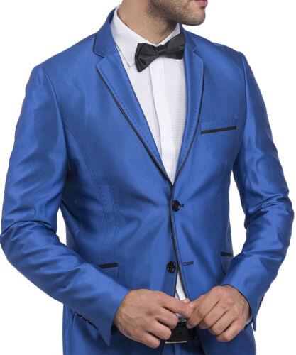 Anzug-Bühne-Sakko Slim Fit Herrenanzug TK glanz in Blau•Gold•Schwarz•Silber