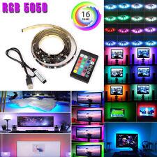 2pcs USB Powered RGB 5050 LED Strip Lighting for TV Computer Background Light 1m