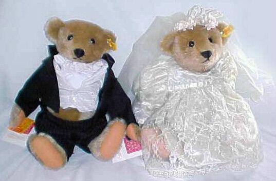 1984 STEIFF MARGARET STRONG BRIDE & GROOM LT ED ID's GROWLER 14  0155/36-37  2