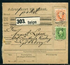 HonnêTe Suède - Récépissé De Colis De Smögen Pour Göteborg En 1911 - Réf M104 Larges VariéTéS